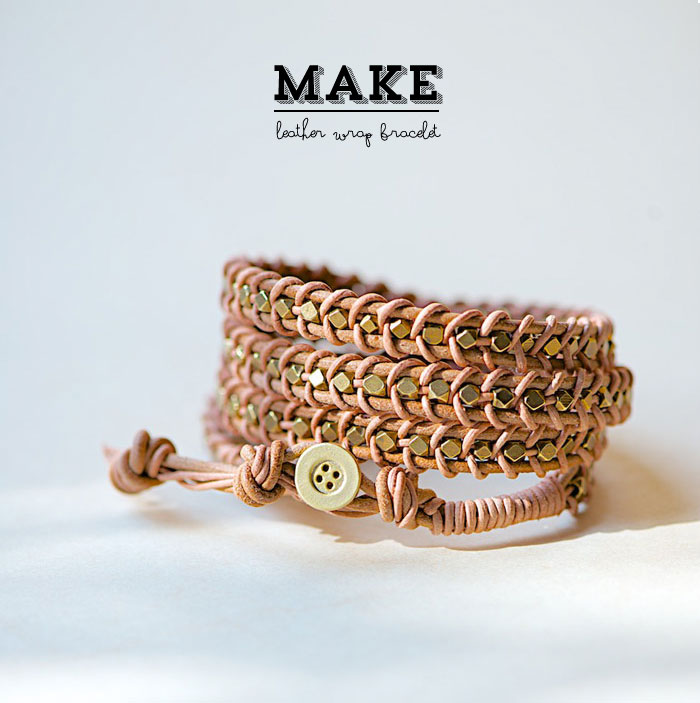 DIY Leather Wrap Bracelet Tutorial