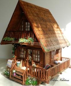 Chalet Style Dollhouse, tutorial Chalet Style Dollhouse, making Chalet Style Dollhouse, diy Chalet Style Dollhouse