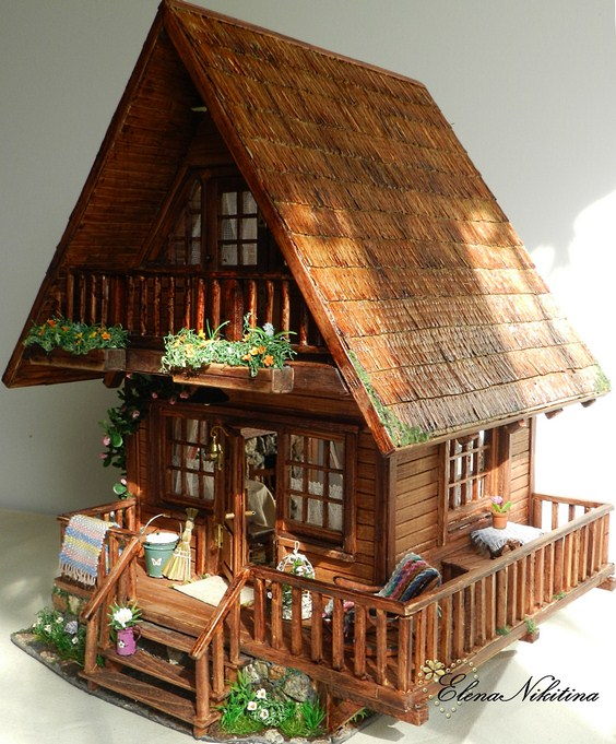 Chalet Style Dollhouse tutorial