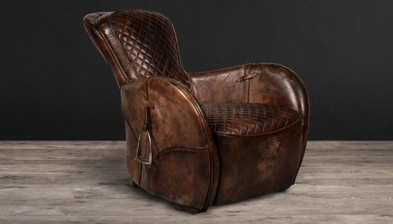 Saddle Shaped Armchair, amazing Saddle Shaped Armchair, equestrian art, equestrian furniture cool Saddle Shaped Armchair, furniture, art, leather armchair